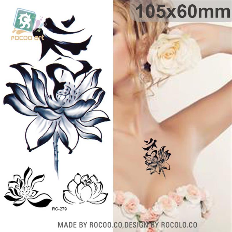 Body Art Waterproof Temporary Tattoos For Men And Women 3d Sexy Simple Lotus Design Small Arm Tattoo Sticker Wholesale RC2279