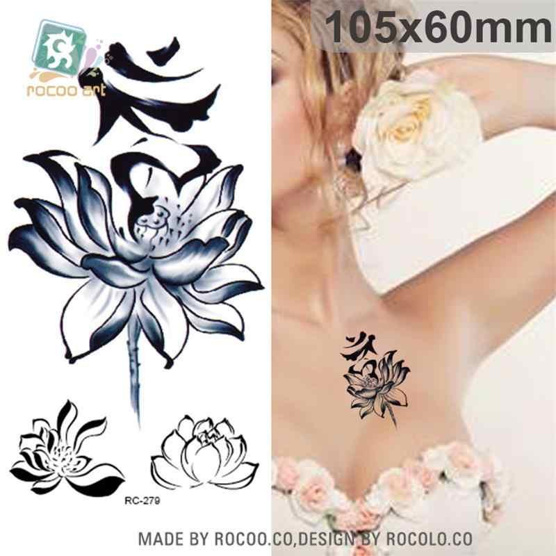 Di Arte di corpo impermeabile tatuaggi temporanei per gli uomini e le donne 3d sexy semplice disegno di loto piccolo braccio autoadesivo del tatuaggio commercio all'ingrosso RC2279