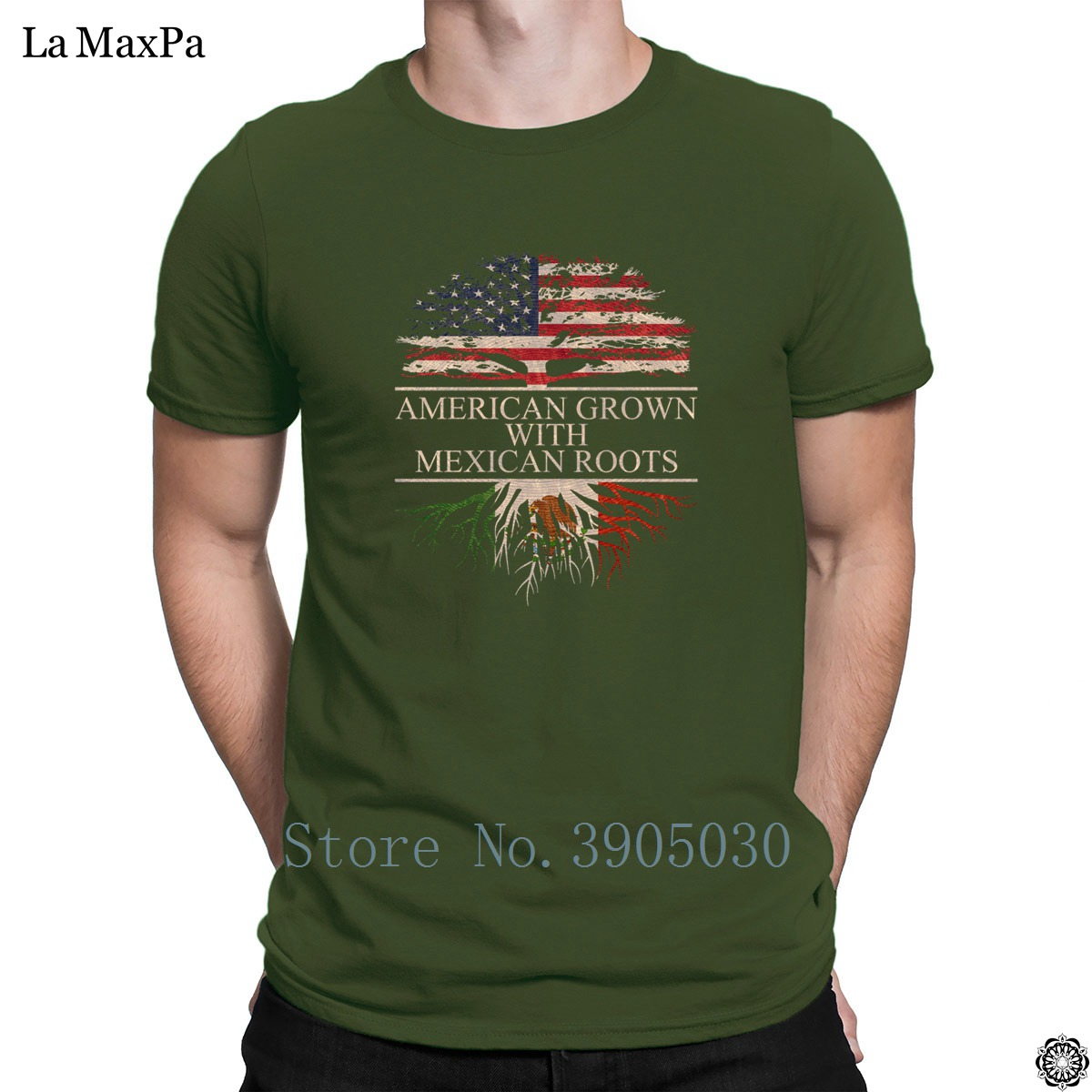 76ffca07b76 Unisex Letters T Shirt For Men Mexcian Roots With American Grown Tree T  Shirt Great Tshirt O Neck Best Men Tee Shirt Top Tee-in T-Shirts from Men s  Clothing ...