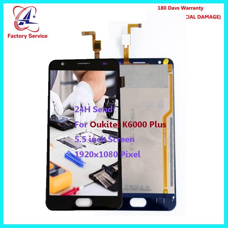 Pour D'origine Oukitel K6000 Plus Écran LCD Display + Écran Tactile Digitizer Assemblée Remplacement 5.5 pouce 1920x1080 P Stock