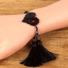Shinus MIYUKI Heart Bracelet Jewelry Women Perles Pulseras Mujer Moda 2019 Bead Bracelets  miyuki joyeria Summer Handmade
