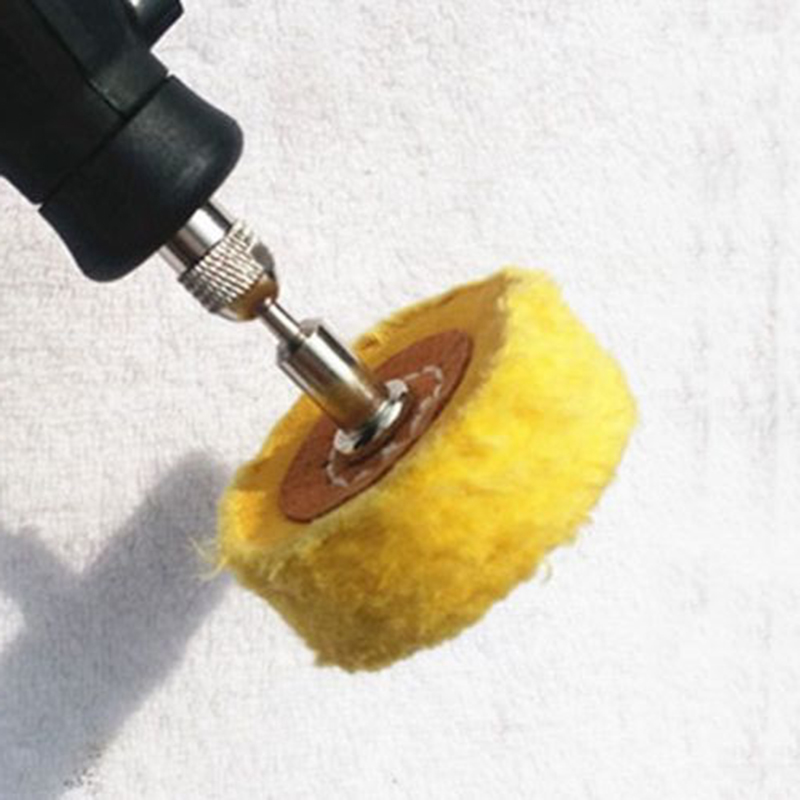 Jeweler Polish Cloth Wheel Pads 50mm Abrasive Brush 3mm Shank Rotary T Type Fabric Jewelry Buffer Head Grinder in Tool Parts from Tools