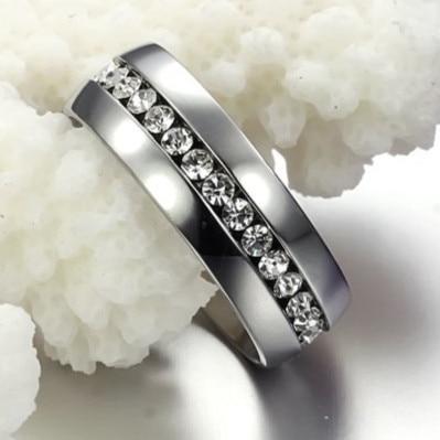 משלוח חינם 316L נירוסטה טבעת רחב 4mm Arc בתוך טבעות מלוטש גבוהה עבור נשים טבעות נישואין תכשיטי יוקרה