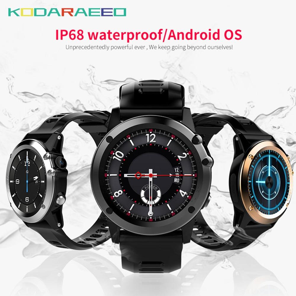 H1 montre intelligente android montre téléphone MTK6572 IP68 étanche SmartWatch 3G wifi GPS SIM WCDMA GSM pression artérielle montres intelligentes hommes