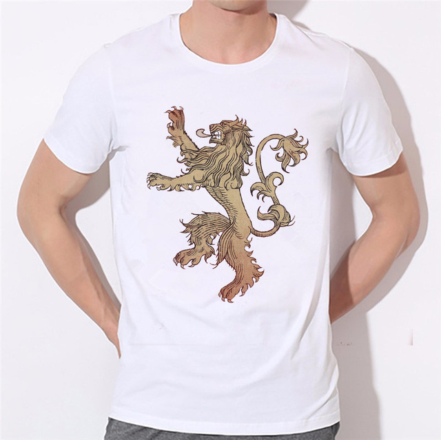 Game Of Thrones House Stark Wolf Winterfell Casual Fashion Men's T-shirt