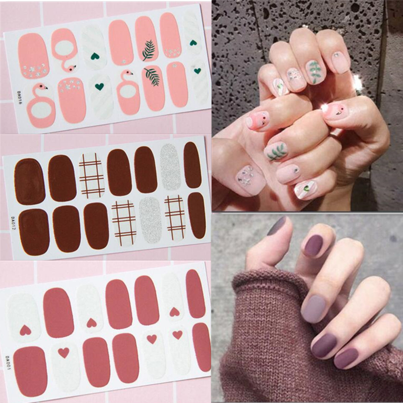 Fashion Full Cover Nail Polish Wraps Adhesive Nail Stickers Nail Art Decorations Manicure Tools Environmental for Pregnant Woman