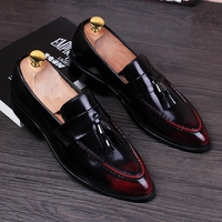 Stephoes 2019 Men Fashion Retro Derby Shoes Male Summer Pointed Toe Business Office Party Dress Shoes Bridegroom Wedding Shoes
