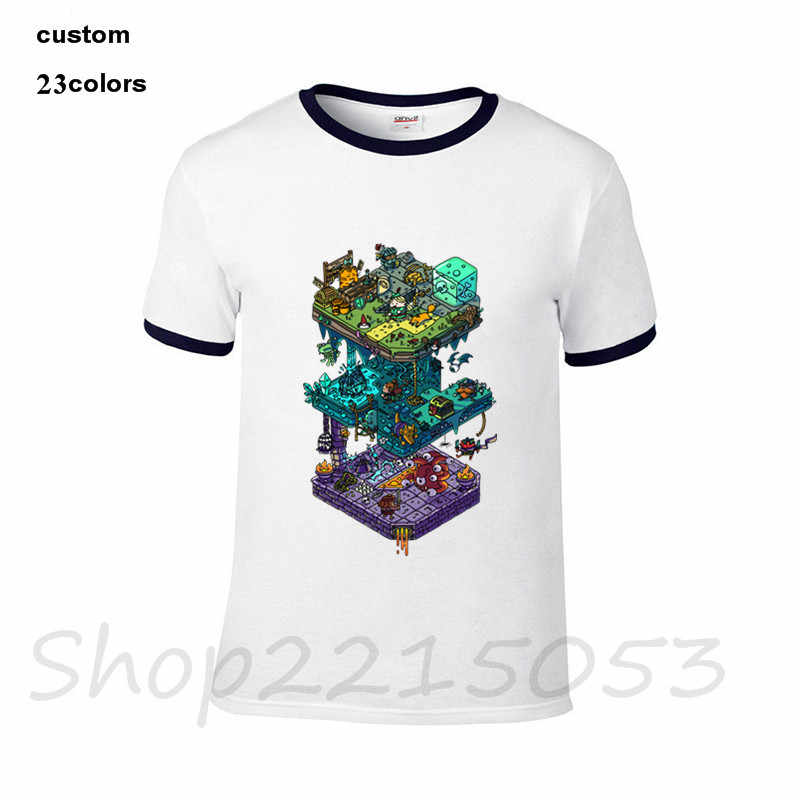 33f3f975 ... 2018 streetwear Dungeons and Isometric Dragons Men game T-Shirt black  one piece ahegao back