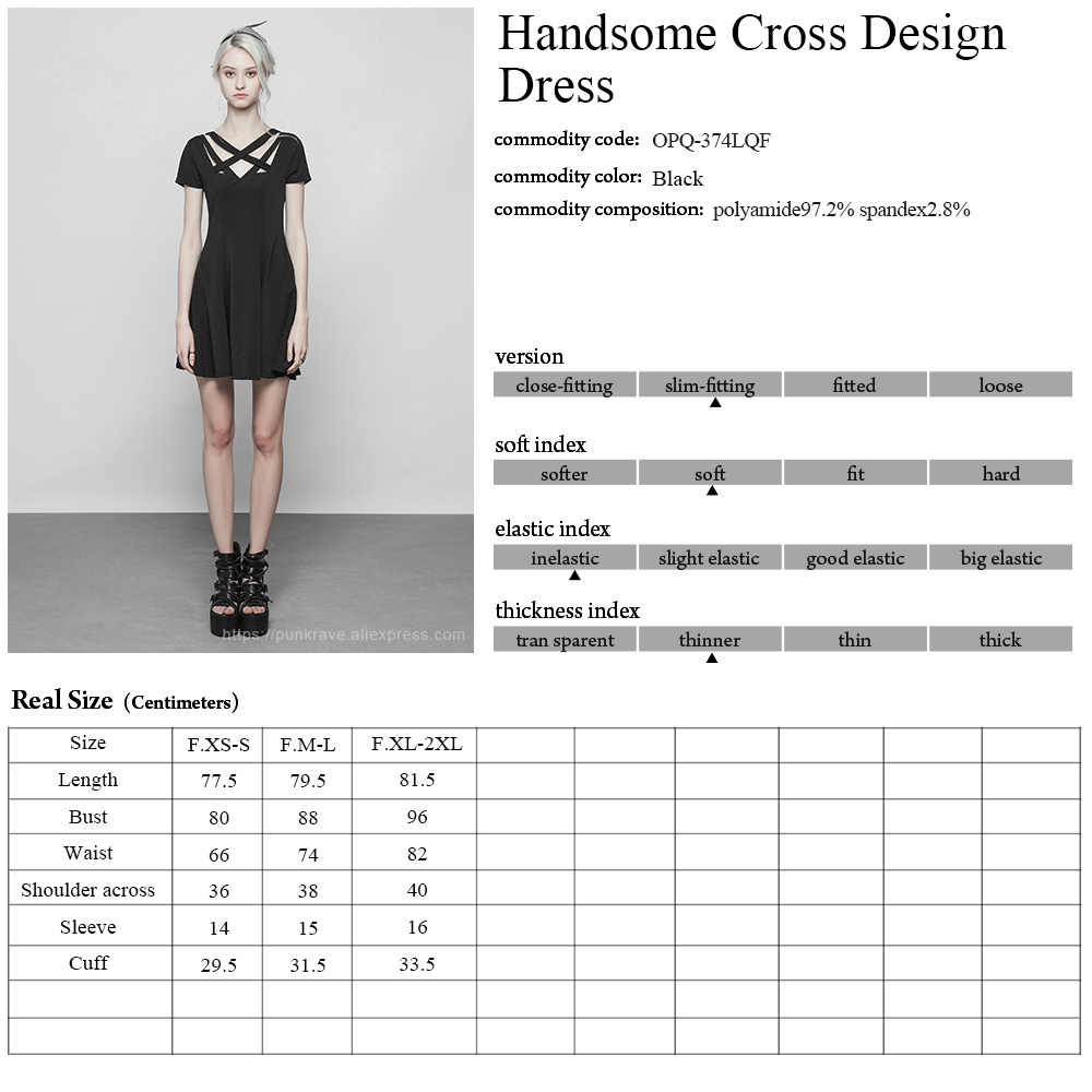6968f9250c3e6 PUNK RAVE New women's Summer Black short sleeve A-Line Dress Gothic Daily  fashion Women Sexy Party Dresses
