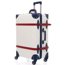 2019 Suitcase Trolley Case luggage with wheels TSA Lock student large suitcase 28 inch PU leather(China)