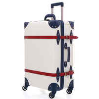 2019 Suitcase Trolley Case luggage with wheels TSA Lock student large suitcase 28 inch PU leather