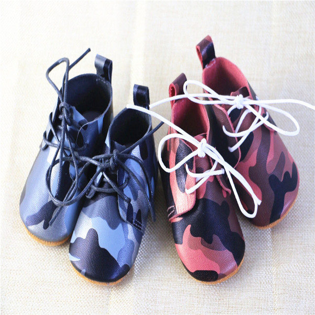 2016 Wholesale Lacing Up Genuine Leather Fashion Mixed Color Printed Soft Soled Lovely Infants First Walker