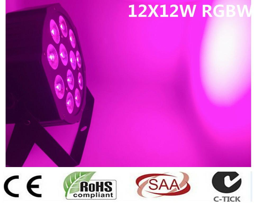 12 pz/lotto LED Par 12x12 W RGBW 4IN1 LED di Lusso 8 Canali DMX Led Flat Par dj dmx luci вставка aparici dress mesmer inserto 12x12
