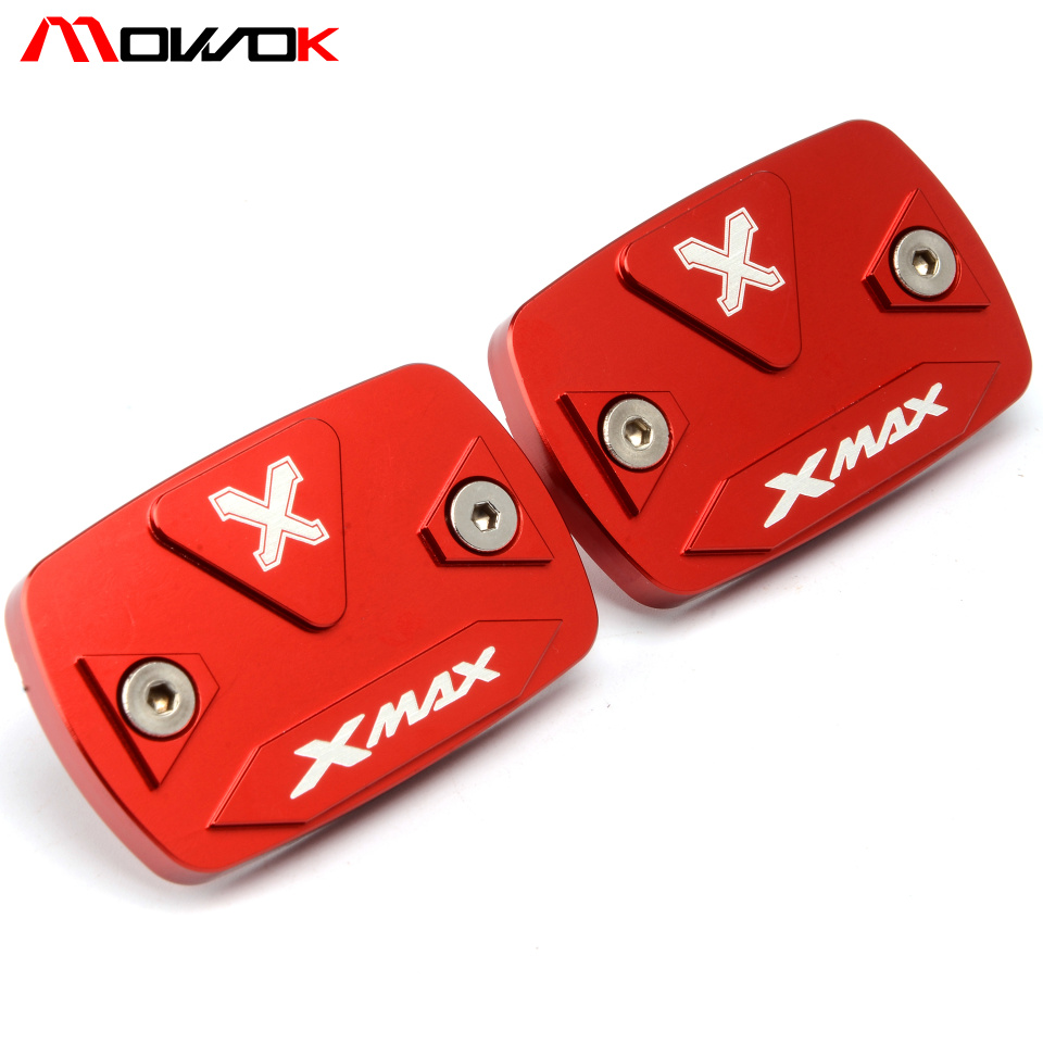 Motorcycle Accessories Motorbike Brake Fluid Tank Cap Cover XMAX LOGO For Yamaha XMAX 300 2015 2016 2017