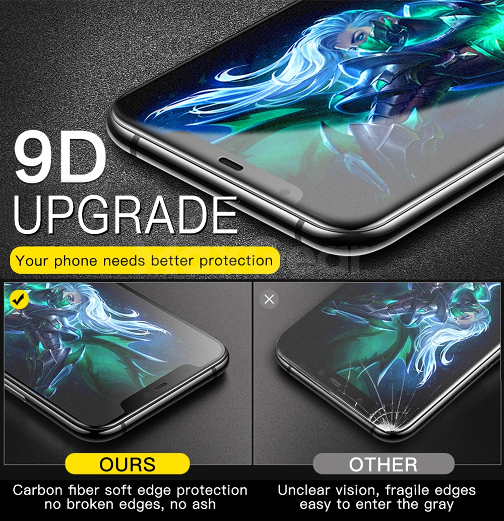 9D Matte Frosted Tempered Glass for Xiaomi Mi 9 8 SE A2 Lite 5X 6X Pocophone F1 Mix 2S Mix3 Full Cover Screen Protector Film