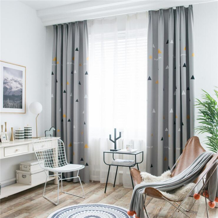 US $17.4 34% OFF|Fashion Geometric Custom Curtain Contracted Contemporary  Curtains for Living Room Bedroom Shading Nordic Window Drapes Su372*30-in  ...