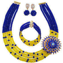 Blue jewelry beads african