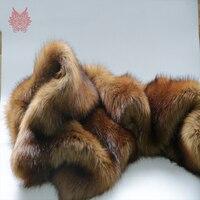 Wysokiej klasy brązowy 5 cm pluszowe futerko lisa tkaniny dla płaszcz zimowy kamizelka Futro kołnierz 180*50 cm 1 pc długie włosy futra lisa tissu telas SP4581