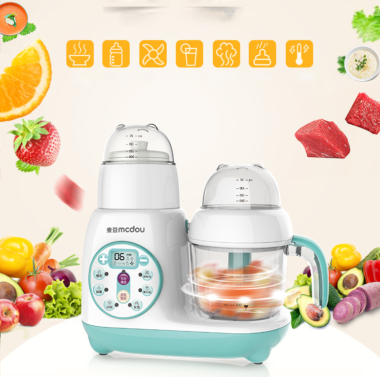 1pc FSJ-D1 Baby intelligenct assist food machine,Electric boiling,stiring,Automatic multi-function meat grinding juicer bear fsj a03d1кухонная бытовая измельчитель
