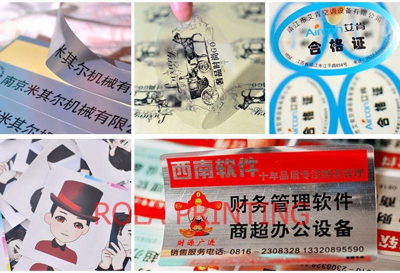 Fantasia personalizado die cut etiqueta adesiva, etiquetas