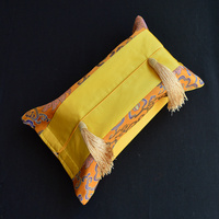 Creative Patchwork Tassel Facial Tissue Box Covers High Quality Fashion Simple Chinese Style Silk Fabic Removable