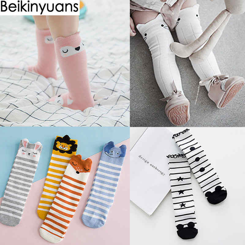 afac56717a0 Baby Socks Knee High Leg warm Newborn Baby Cotton Sock Cartoon three-dimensional  Tube Sock