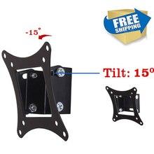 """O Envio gratuito de 14 """"-26"""" Inclinação do Monitor de TELA Plana LCD LED TV wall Mount Bracket"""