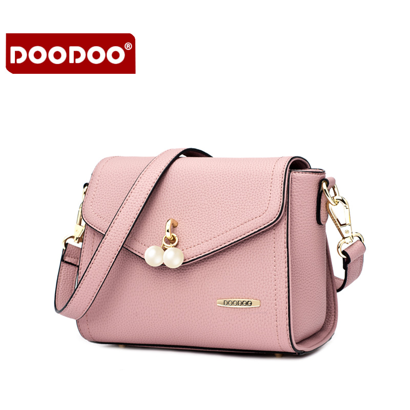 DOODOO Fashion Women Messenger Bags Famous Brands Designer Handbags High Quality Pu Bolsos Mujer De Marca Famosa 2016 Beads Flap