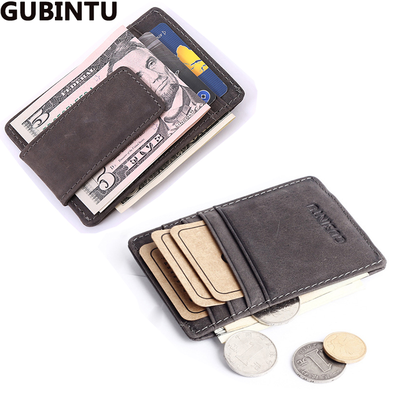 designer wallet with money clip jdg6  Top Quality men wallets money clip carteira vintage style leather money  holder male clamp for money