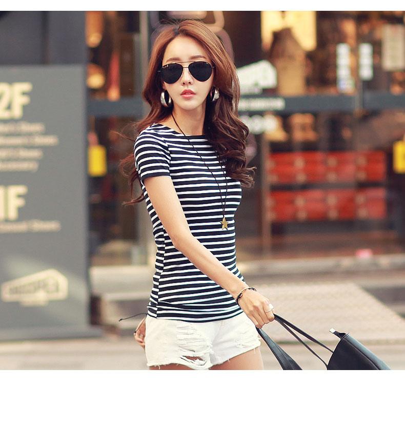 HTB1PjeERVXXXXavXFXXq6xXFXXXB - Volocean Summer Casual T-shirts For Women Classic Cotton