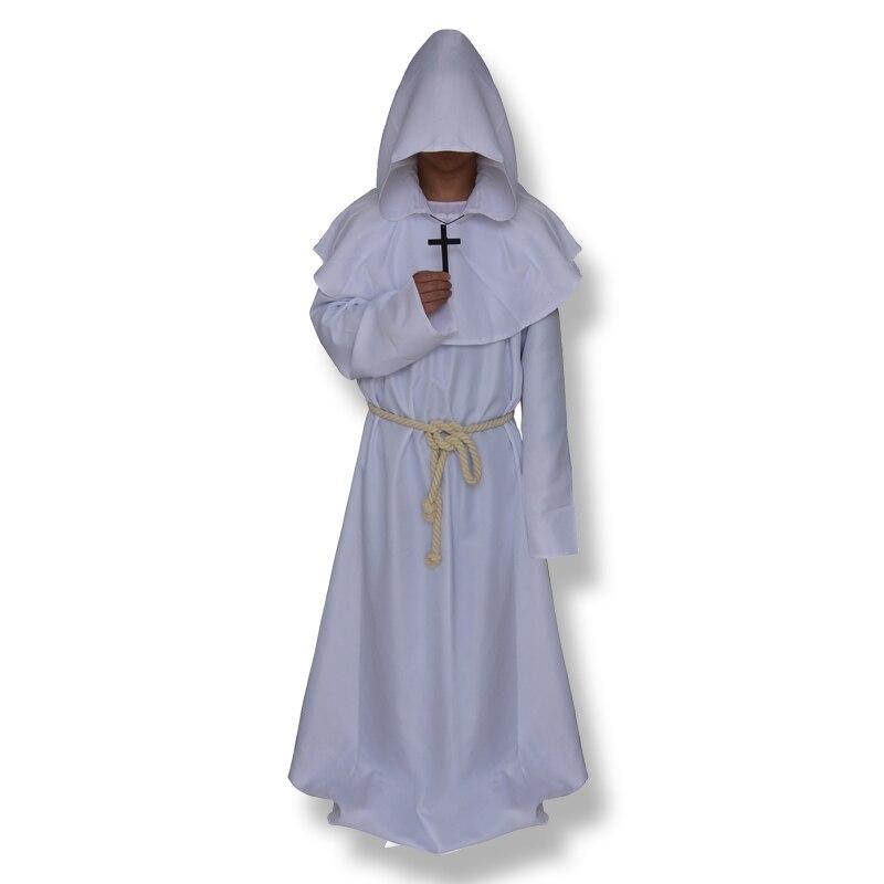 CT016FY036 костюм для косплея на Хэллоуин, средневековый фрир, монах, который носит костюм попа - Цвет: white