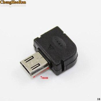 ChengHaoRan 1000pcs 7mm Micro USB 5PIN Welding Type Male Plug Connectors 90 Degrees 5P USB Tail Socket 3 in 1 DIY Black