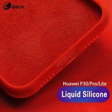 GKK Original Liquid Silicone Case for Huawei P30 Pro Shockproof Baby Skin Soft Cover Lite Nove 4e Coque
