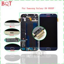 DHL free G920 LCD For Samsung Galaxy S6 G920F LCD Display Touch Screen Digitizer + Charging Flex + Frame Full Assembly