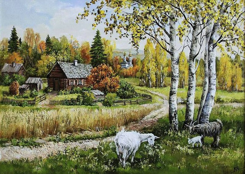 diy 5d diamond painting cross stitchrustic style diamond embroidery diamonds mosaic landscape embroidered pictures Mosaic