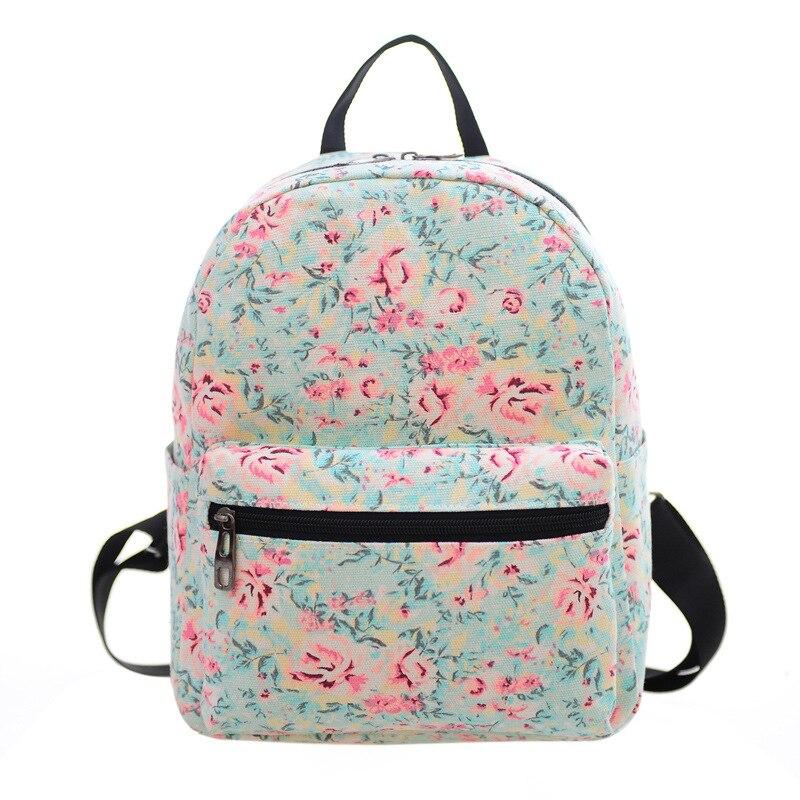 Printing Rose Bush Backpacks Fashion Men Women Boys Girls Mochila Rucksack Vintage Canvas Bags