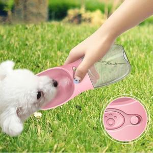 Портативный собака бутылка для воды Мода Собака чашки собаки кошки подачи воды Открытый питьевой путешествия дорожная поилка для собак Botella De Agua Para Perrov drinkfles hond honden drinkbak opvouwbaar