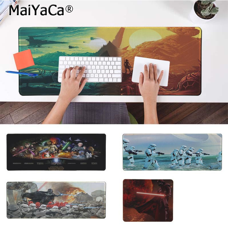 MaiYaCa Funny Star Wars Silicone large/small Pad to Mouse Game Rubber PC Computer Gaming mousepad image