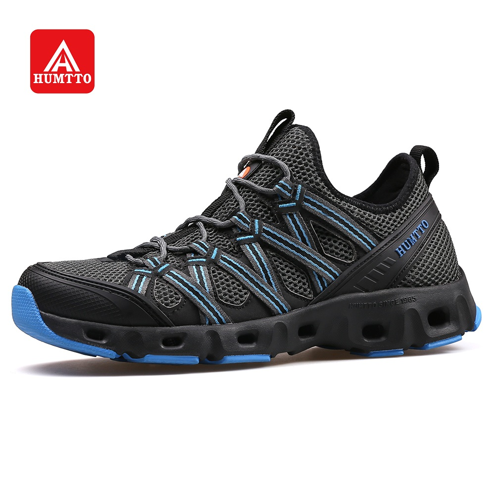HUMTTO Aqua Shoes Men s Breathable Quick drying Outdoor Climbing Trekking Sports Creek Shoes Sole Drainage