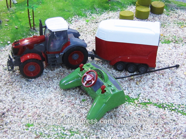 Remote Control Big Size fun 1:28 Multifuncional rc farm trailer tractor truck toy free shipping