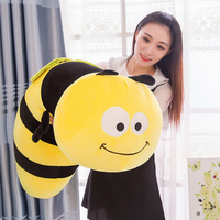 Fancytrader Lovely Animal Little Bee Plush Doll Stuffed Cartoon Yellow Honeybee Toy Pillow Gift for Kids 35inch 90cm