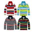 Alta calidad niños niñas niños camisa de algodón de manga larga camiseta ropa de marca boy camisetas polo para 2-16 años
