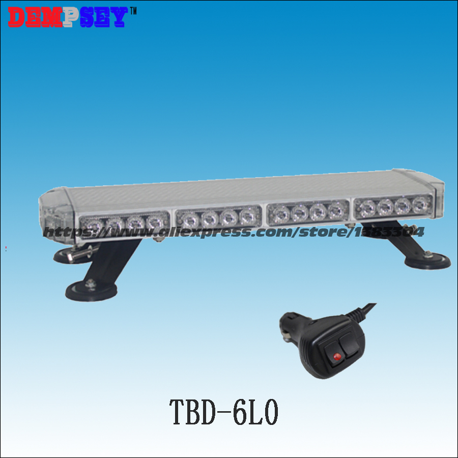Free shipping!High quality TBD-6L6-4 LED mini lightbar,emergency light,Police/ car Flashing warning light,cigar light switch
