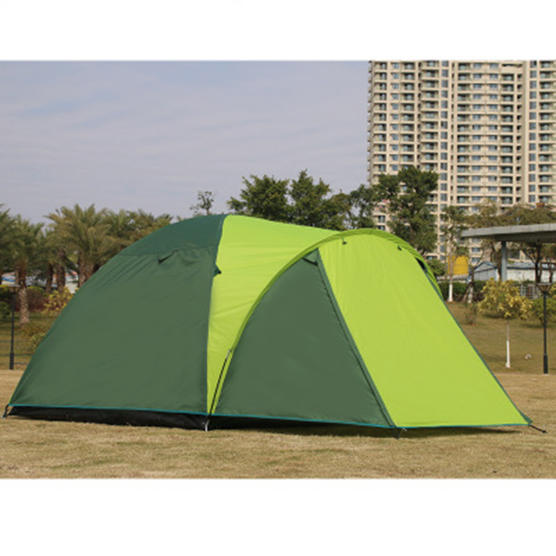 New Arrival 3-4 Person Use Double Layer One Hall One Bedroom Waterproof Camping Tent Beach Tent Barraca Tente new arrival 3 4persons one bedroom