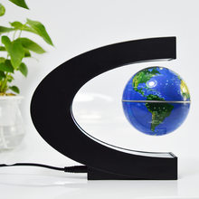 Led Drijvende Globe Magnetische Levitatie Desk Night Lamp Engels World Map Bal Globo Terrestre Licht Voor Kid Gift Woondecoratie(China)