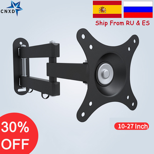 Image 1 - Universal LCD LED TV  Wall Mount PC Monitor TV Holder Rotated TV Wall Bracket Tilt Swivel Plasma TV Wall Holder