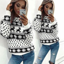 2018 Women Lady Jumper Sweater Pullover Tops Coat Christmas Winter Womens Ladies Warm Brief Sweaters Clothing 2 COLOUR 4 Size