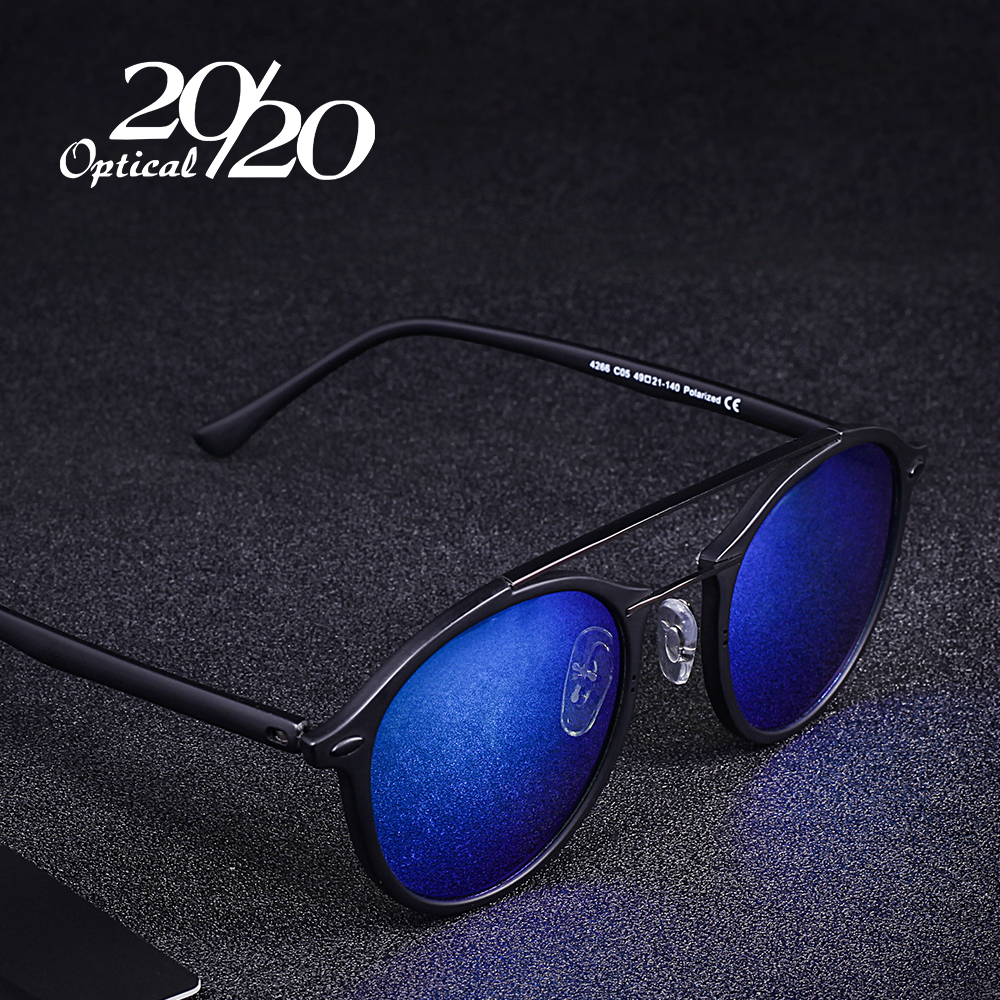 20 20 Brand Men Retro Polarized Sunglasses Women Classic Brand Designer Unisex Sunglasses Double Beams Glasses