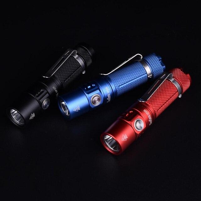 Sofirn SP10S LED el feneri AA 14500 cep lambası 90 CRI LH351D 800lm ışıklı anahtarlık Taktik Torch Su Geçirmez Fener 6 modları