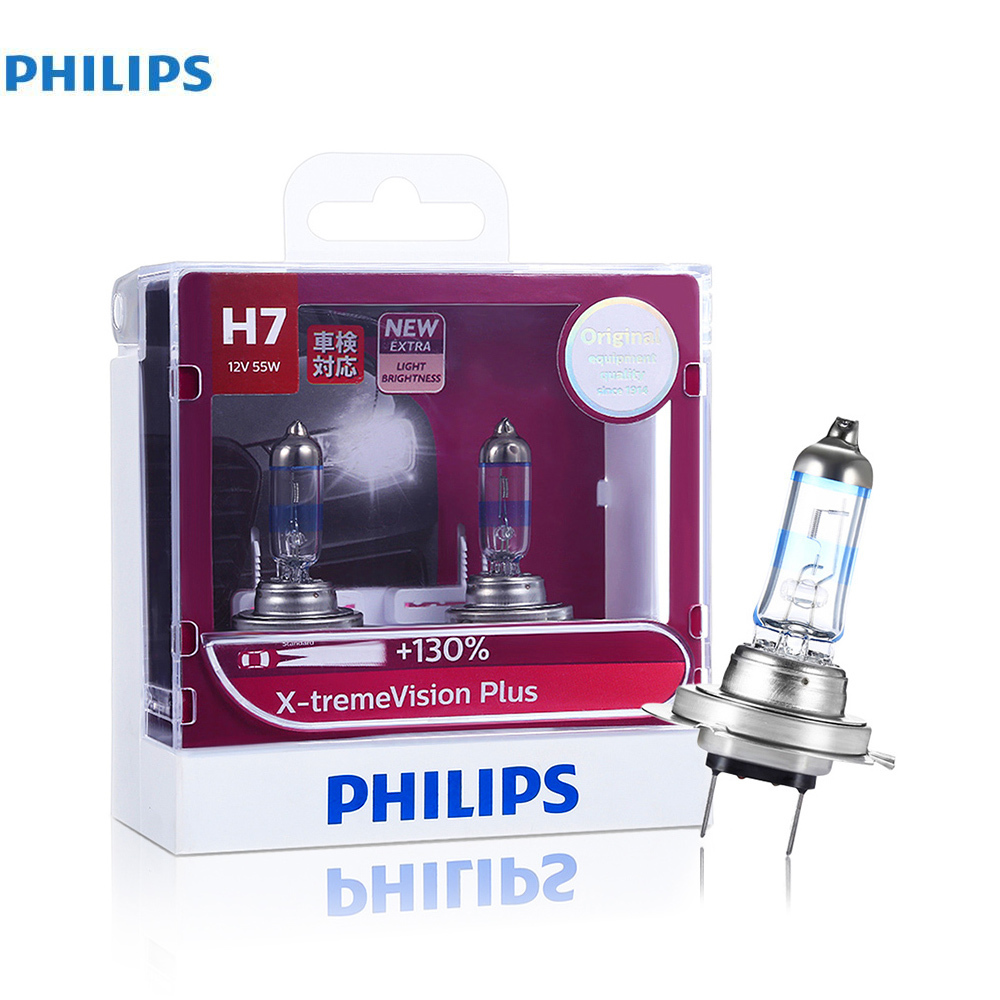 Philips H7 2 Pcs 110W 2200LM Car Headlight Halogen Bulb Kit Auto Front Light Fog Light Bulbs 3700K Led Automotive Headlamps